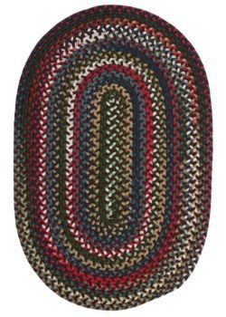 Chestnut Knoll Round Area Rug, 6-Feet, Saddle ()