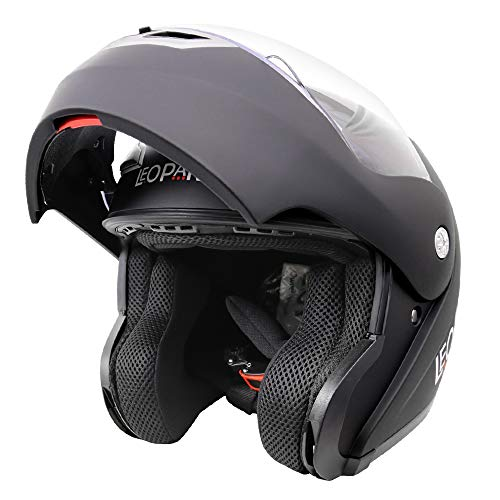 ReaseJoy ECER 22-05 Certified Flip Up Front Modular Motorcycle Helmet Full//Open Face Motorbike Helmet Dark Gray S