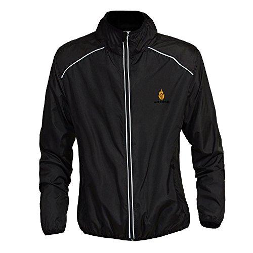 WOSAWE Herren-Fahrradjacke Winddichte wasserdichte MTB Mountainbike Jacket Für Radfahren, Joggen & Wandern