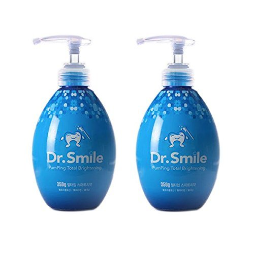 Dr.Smile Cream Toothpaste Whitening Plaque Care Natural Ingredients (12.3oz x (Flavored Herbal Toothpaste)