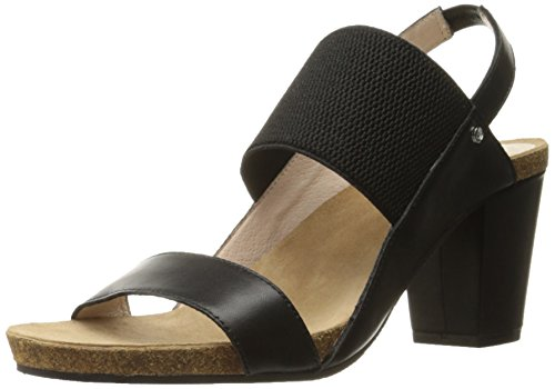 Women's Sudini Caden Taupe Black Dress Sandal SfBxfn