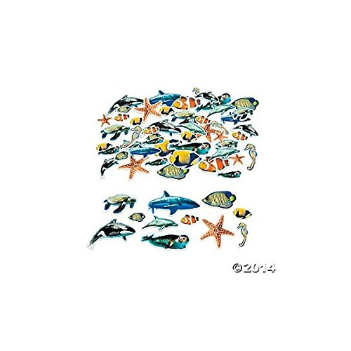 500 Foam Realistic Ocean Animal Self-Adhesive Shapes/ARTS & CRAFTS/SCRAP BOOKING/Teacher Supplies (Sea Animal Shape)