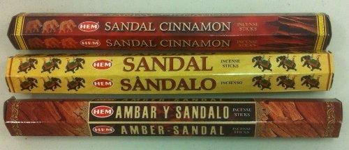 多様な Hem Sandalwood Sandal & Variety Set 60 Hem Incense Sticks Sandal Cinnamon, Amber Sandal & Sandal by Hem B00G7P6ISA, ラベンダーハウスネクストライフ店:2eab17b1 --- arianechie.dominiotemporario.com