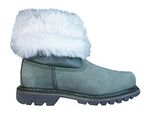 Caterpillar Bruiser Scrunch Forrado de piel de las mujeres botas de invierno Green