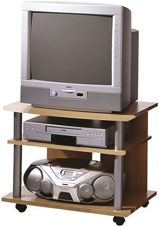 FMD 205-008 - Mueble para televisor o sistema de audio y vídeo (65 x 40 x 50 cm), color haya: Amazon.es: Hogar