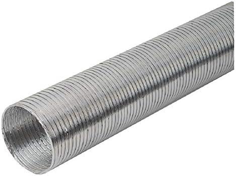 Tubo flexible de aluminio de 125 mm de diámetro y 1,5 m de longitud, flexible: Amazon.es: Bricolaje y herramientas