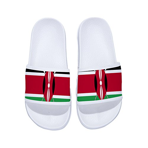 DREA Summer National Flags Slippers for Boys Girl Outdoor Indoor Soft Shower Beach Sandal Shoes -