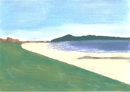Playa escena Pastel dibujo + montaje