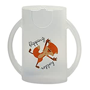 The Flipping Holder, a mess-free food pouch and juice box holder for babies, toddlers, and kids (Snow White)