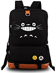 Siawasey® My Neighbor Totoro Anime Cartoon Canvas Backpack School Shoulder Bag