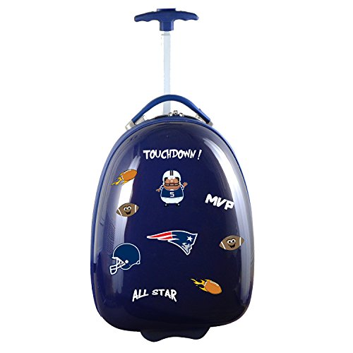 Denco NFL England Patriots Kids Lil' Adventurer Luggage Pod, 18-inches, Navy from Denco