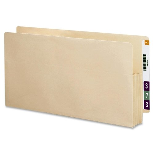 Wholesale CASE of 5 - Smead Recycled End Tab File Pockets-File Pockets, 3-1/2'' Exp, 12-3/8''x9-1/2'', Letter, 25/BX, MA
