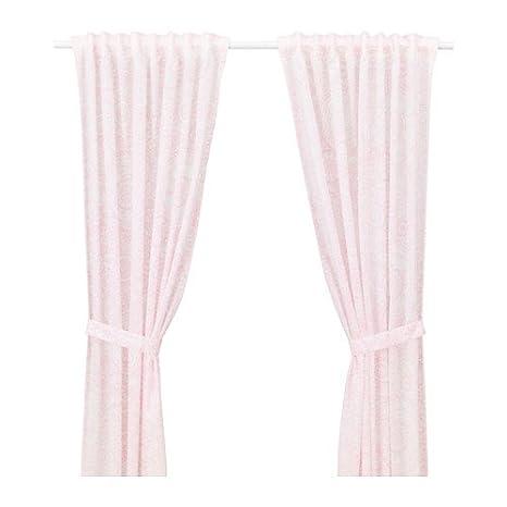 Ikea vaens kaplig 2 Tende per cameretta bambini + trecciata in rosa ...