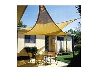 ProSource New Sand Color 16 Oversized Sun Shade Sail Shade canopy Sun Shelter