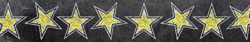 Creative Teaching Press Gold Stars Borders, Black/Yellow (0241) ()