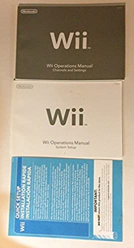 wii operations manual system setup with quick installation guide rh amazon com wii operations manual customer service number uk Installing Batteries Wii Operations Manual