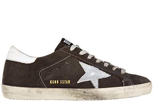 Golden Goose zapatos zapatillas de deporte hombres en ante nuevo superstar marró