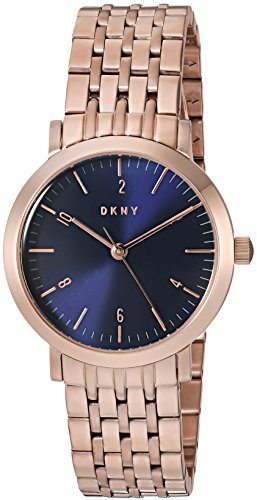 DKNY Women's 'Minetta' Quartz and Stainless-Steel-Plated Casual Watch, Color:Rose Gold-Toned (Model: NY2615)