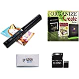 VuPoint ST415 Handheld Magic Wand Portable Scanner Kit for Document & Image, JPG/PDF, 900DPI, Color/Mono - 8GB Micro SD Card + Bonus Software Suite (PaperPort 14, Image Broadway, Family Tree Heritage)