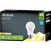 NOMA A19 LED 60 WATT REPLACEMENT DIMMABLE SOFT WHITE BULB 3 PACK