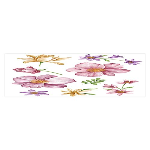 Macaroon Simple (Dragonhome Aquarium Sticker Flower Set in Simple White Background Fish Tank Backdrop Static Cling L23.6 x H11.8)