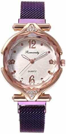Wristwatch Quartz Casual Watch Slim Women Watch Fashion Minimalist Quartz Watch for Girlfriend(Purple)
