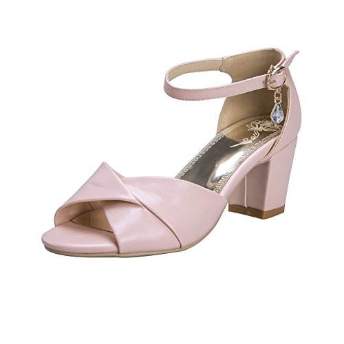 1TO9 Girls Glass Diamond Engagement Polyurethane Sandals Pink 84Qypx