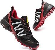GoodValue Trail Running Shoes Men Waterproof Walking Hiking Running Shoes for Men Non-Slip All-Terrain Shoes