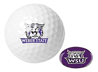 NCAA Weber State Wildcats - Golf Ball One Pack with Marker