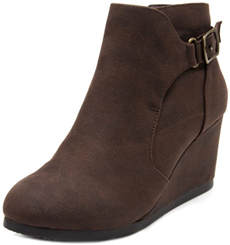 Pictures of London Fog Womens Martha Wedged Ankle Bootie 4