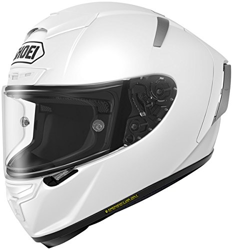 Shoei Solid X-14 Sports Bike Racing Motorcycle Helmet - White / Large