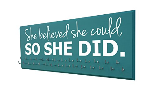 Medal Display - SHE Believed SHE Could, SO SHE DID - All Sports - Running - Gymnastics - Swimming - Cheerleading - Soccer ()