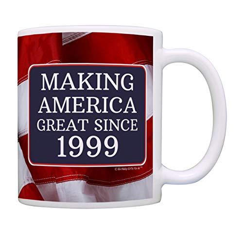 21st Birthday Gifts For All Making American Great Since 1999 Birthday Gift Coffee Mug Tea Cup USA Flag