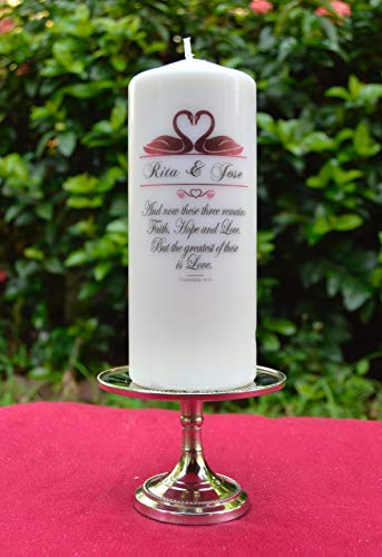 (Personalized Wedding Unity Candle - Pillar Only)