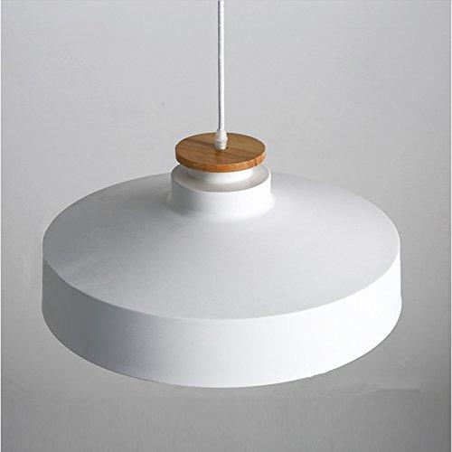 OAKLIGHTING Modern Pendant Light Fixture For Living Room Aluminum Shade D 15.7'' (White)