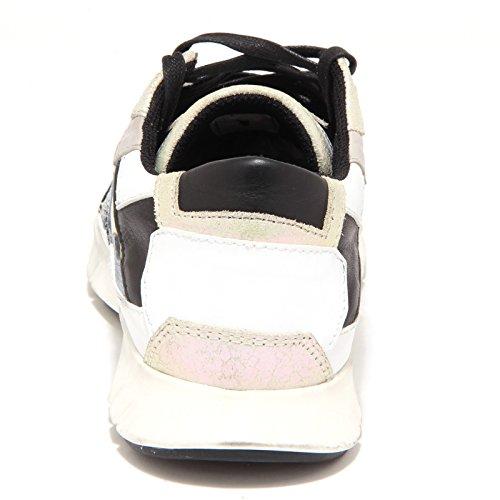 Donna Woman Scarpa bianco Sneaker beige Oro bianco Shoe Beige Crime Nero 5423o Cangiante qSFxE