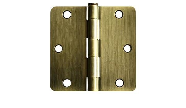 "27 Oil Rubbed Bronze 3.5/"" w 1//4/"" Radius Door Hinges Interior Brushed 3 Inch"