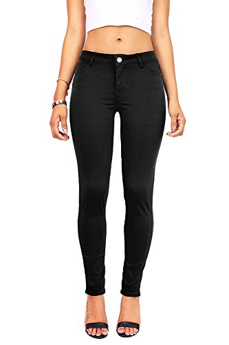 Celebrity Pink Women's Juniors Mid-Rise Jeggings Fit Skinny Pants (3, Black) by Celebrity Pink