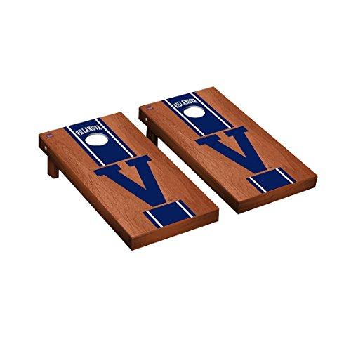 - College Vault Villanova Wildcats Cornhole Board Set Rosewood Stained Stripe Version