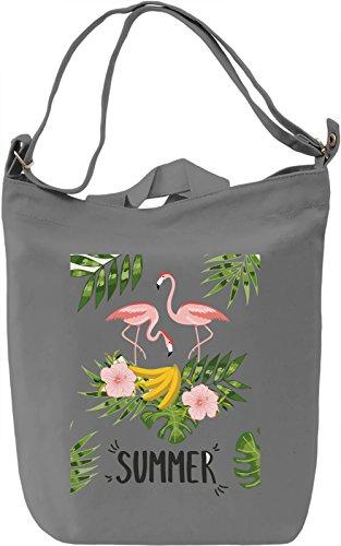 Summer flamingo Borsa Giornaliera Canvas Canvas Day Bag| 100% Premium Cotton Canvas| DTG Printing|