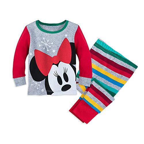 Disney Santa Minnie Mouse PJ PALS for Baby Size 18-24 MO Multi ()