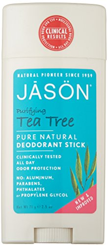 JASON Purifying Tea Tree Deodorant Stick, 2.5 Ounce Tubes (Pack of 3)