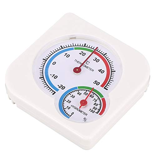 qiangzhongzhedianzichanpin N/ützliches Wei/Ã/Ÿ Mini-Thermometer f/ür Kinderzimmer Baby Haus Zimmer Wet Hygrometer
