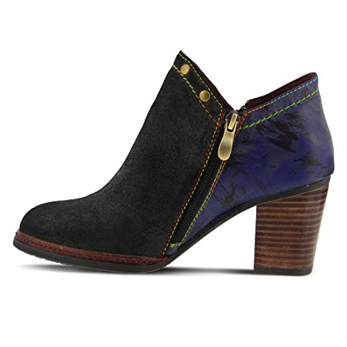 Closed Ankle L'ARTISTE Toe Womens Fashion Black Sabina Suede Use Brand Leather Custom Boots qHFqYr8