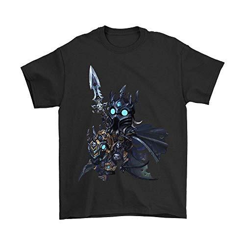 (3D Shirt World of Warcraft Death Knight Arthas Menethil Shirts_Black_4XL)