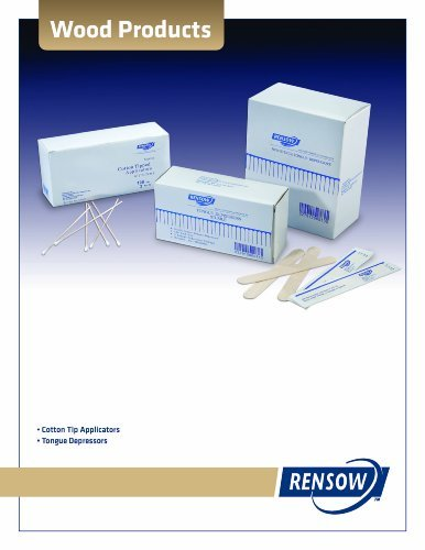 """RENSOW Cotton Tips Applicators 6"""" Sterile 2/Pack 10 packs of 200 - 2000 case"""