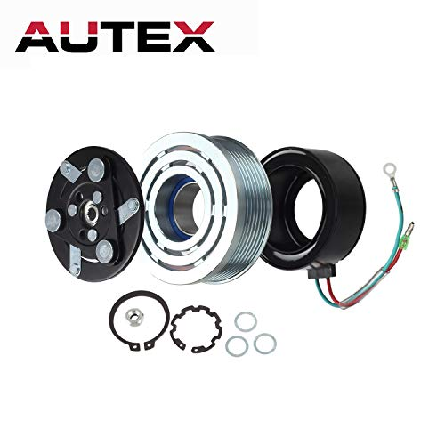 AUTEX AC A/C Compressor Clutch Assembly Kit 80221SWAA02 38810RRBA01 4918U1 Replacement for 2006 2007 2008 2009 2010 2011 Honda Civic (Honda Civic A/c Clutch)
