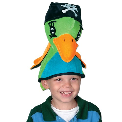Plush Pirate Parrot Hat Party Accessory (1 count) (1/Pkg)]()