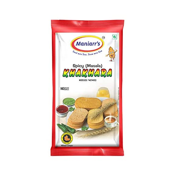 Maniarrs Masala Khakhra 8 Packs - Single Flavor 360 Grams