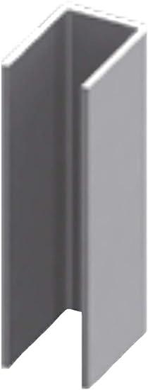 Perfil en U de acero inoxidable para mampara de ducha de 2200 mm perforado – 6 mm: Amazon.es: Bricolaje y herramientas